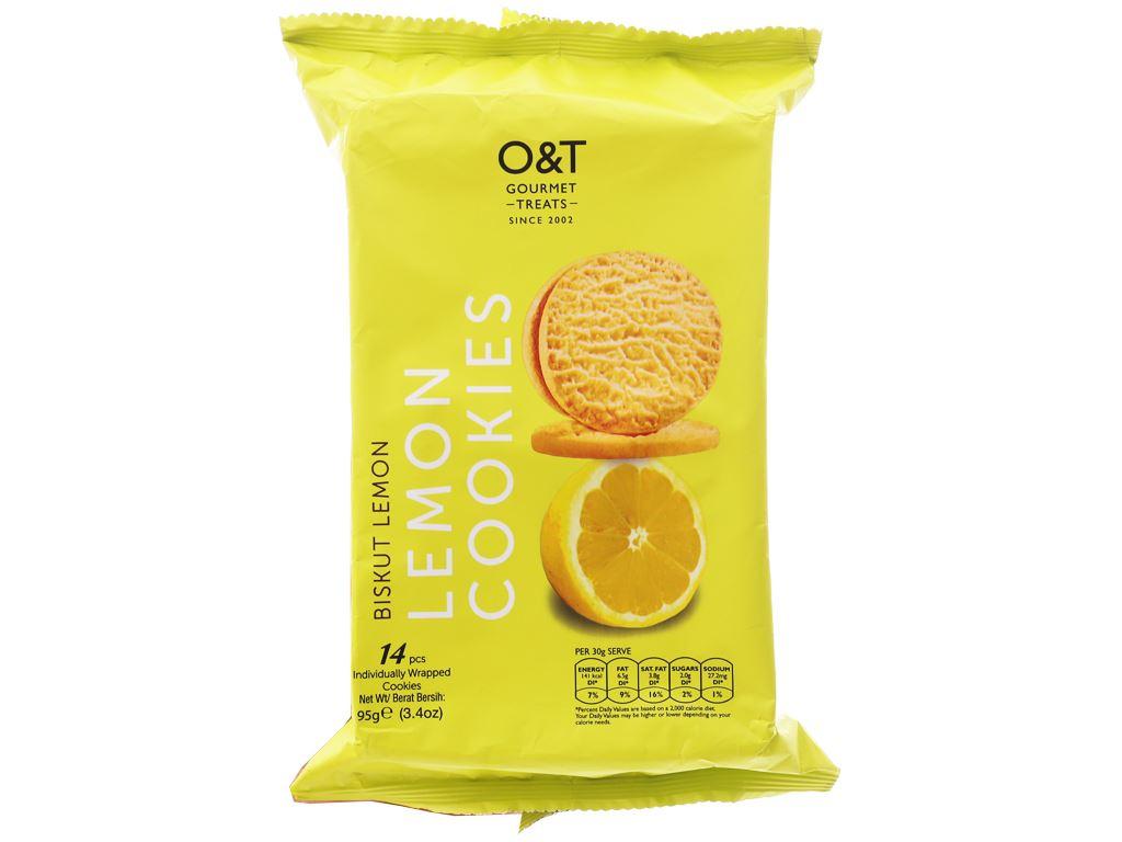 Bánh quy hương chanh O&T gói 95g (14 bánh) 1