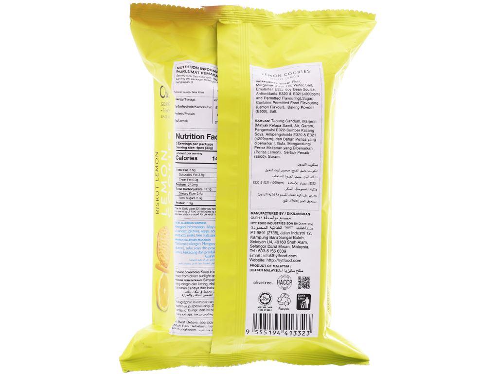 Bánh quy hương chanh O&T gói 95g (14 bánh) 2