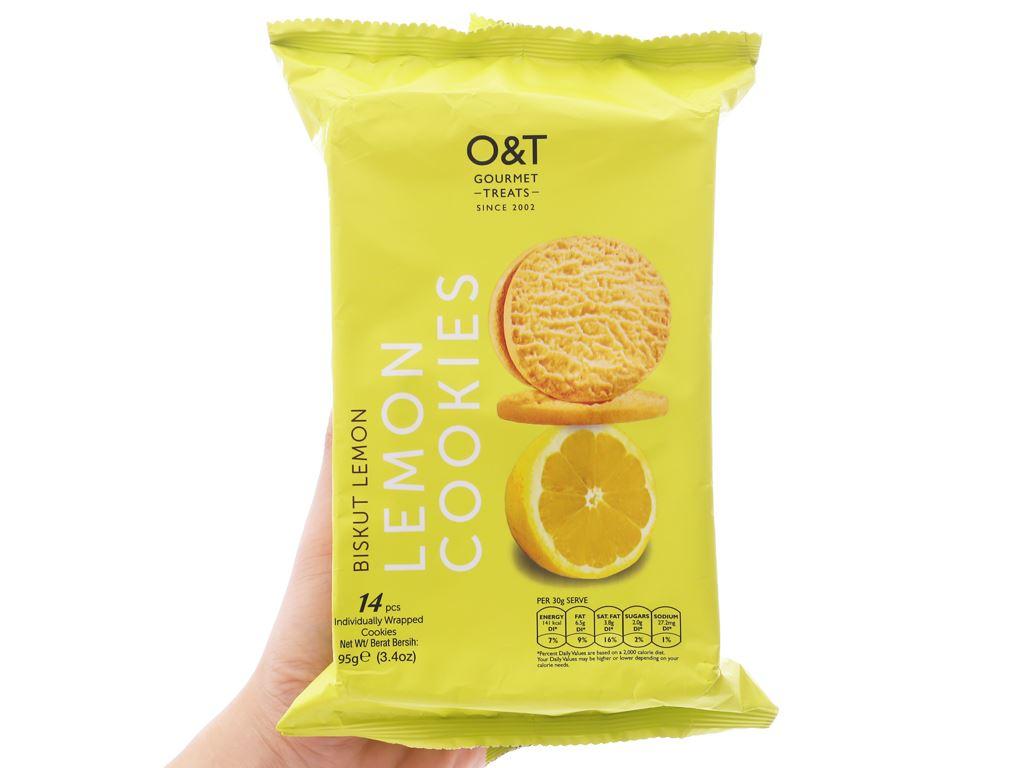 Bánh quy hương chanh O&T gói 95g (14 bánh) 3
