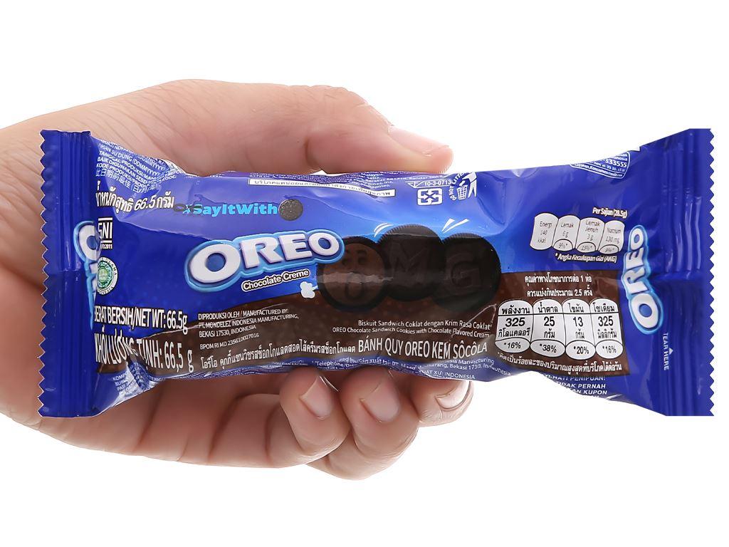 Bánh quy Oreo kem socola gói 66.5g 9