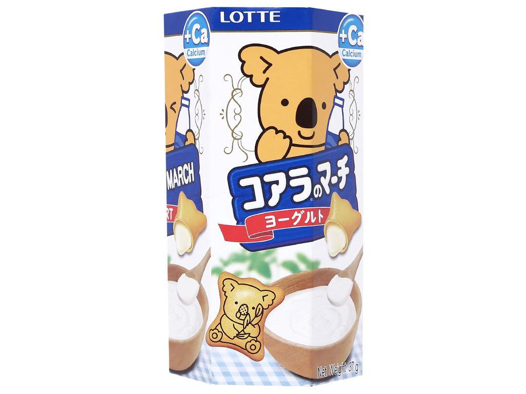 Bánh gấu hương sữa chua Lotte Koala's March hộp 37g 1