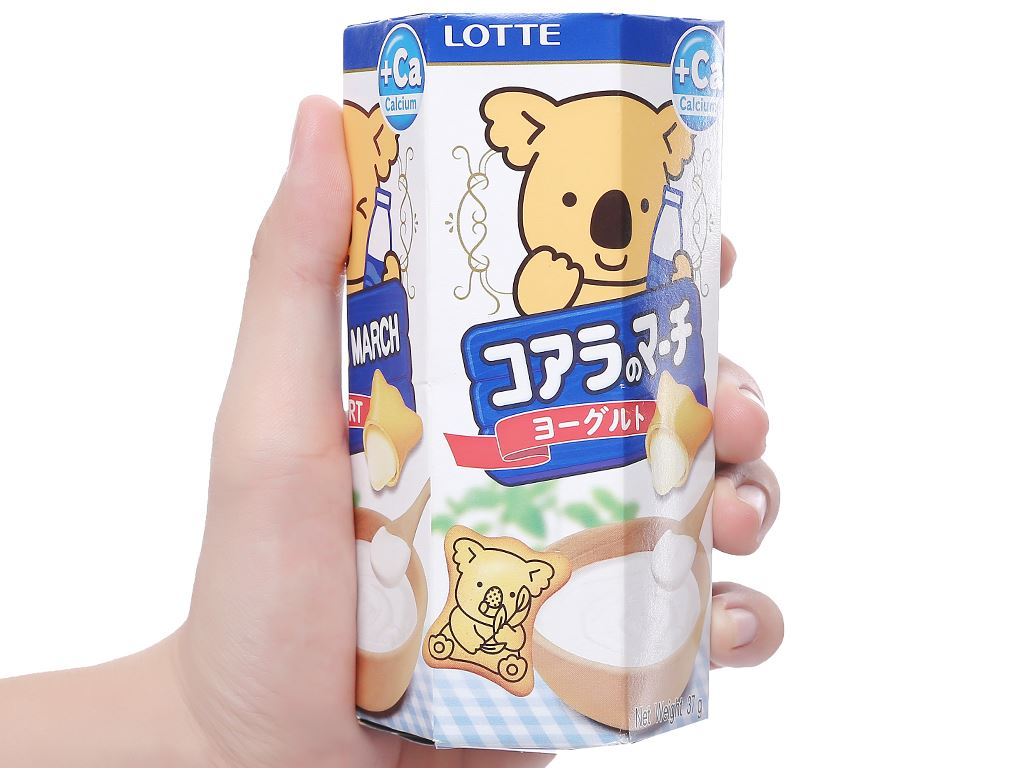 Bánh gấu hương sữa chua Lotte Koala's March hộp 37g 5