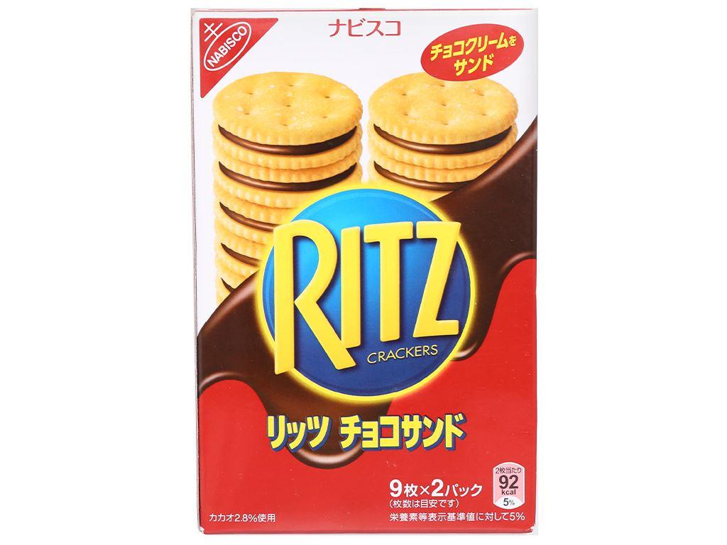 Bánh quy kẹp kem socola Ritz hộp 160g 3