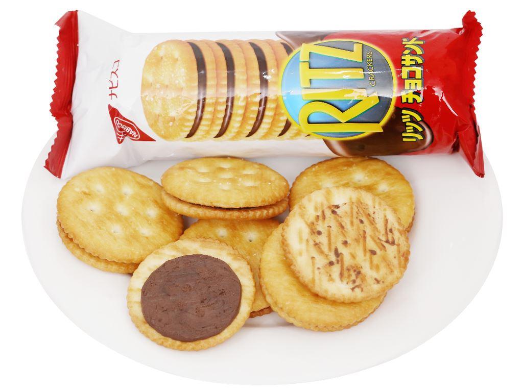 Bánh quy kẹp kem socola Ritz hộp 160g 10