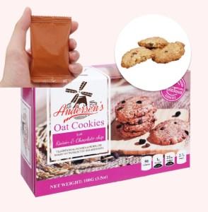 Bánh quy nho khô và choco chips Andersen's hộp 100g
