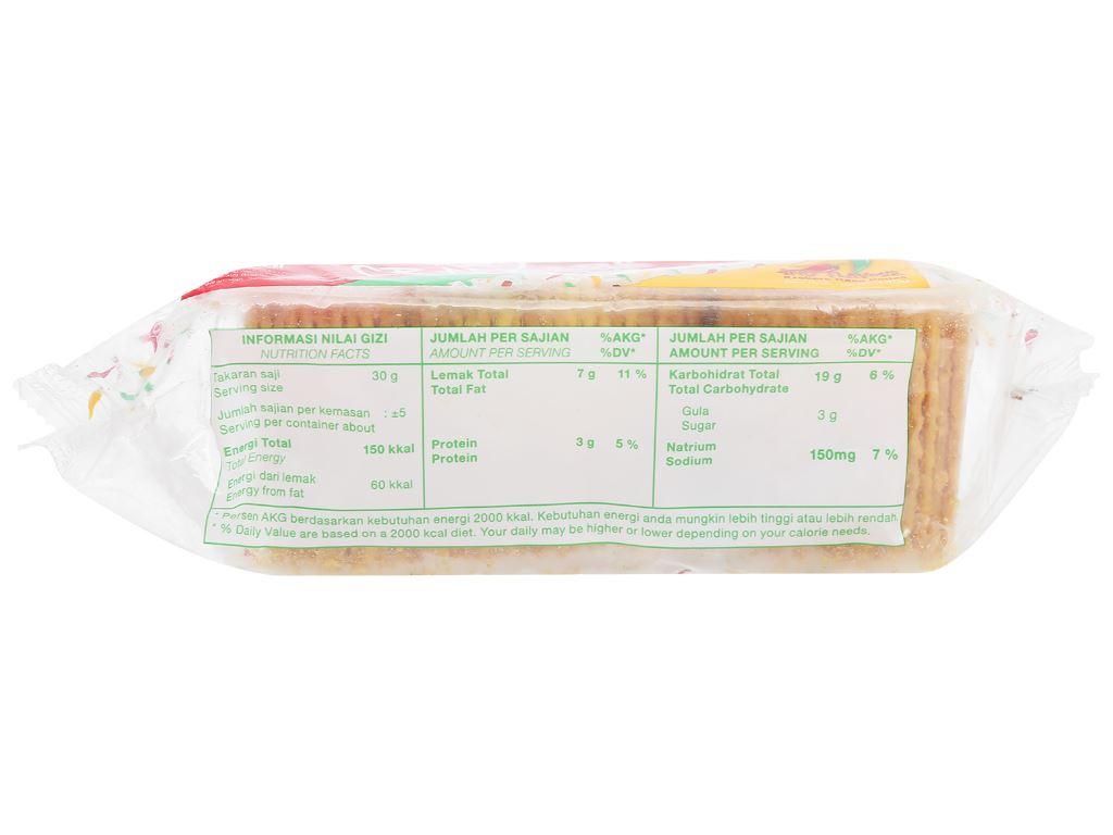Bánh quy giòn vị cay Nissin gói 140g 4