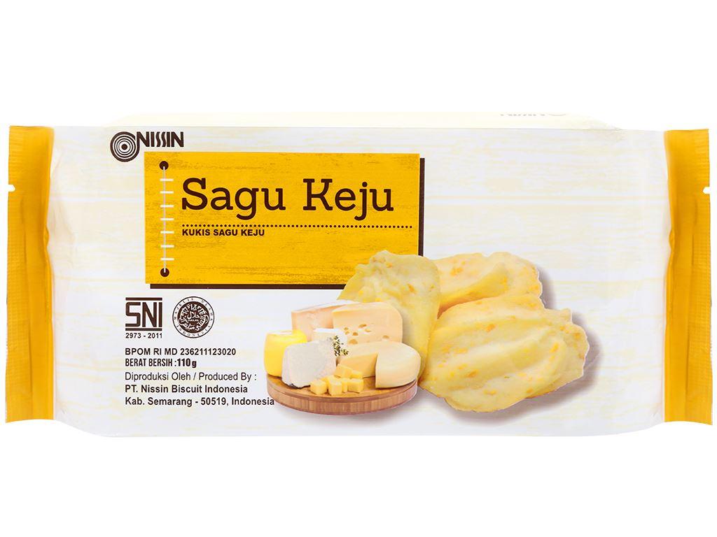 Bánh quy phô mai Nissin Sagu Keju gói 110g 1
