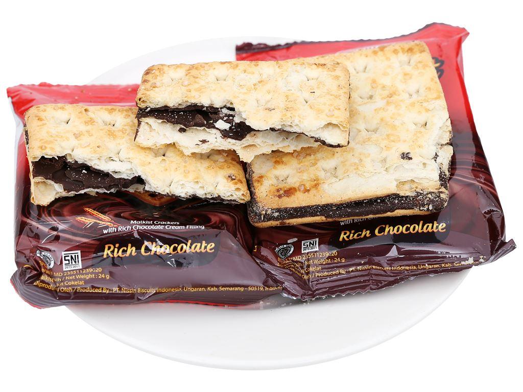 Bánh quy nhân kem socola Nissin Malkist Sandwich gói 240g 8