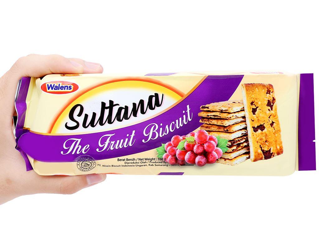 Bánh quy rắc nho khô Walens Suttana gói 160g 3