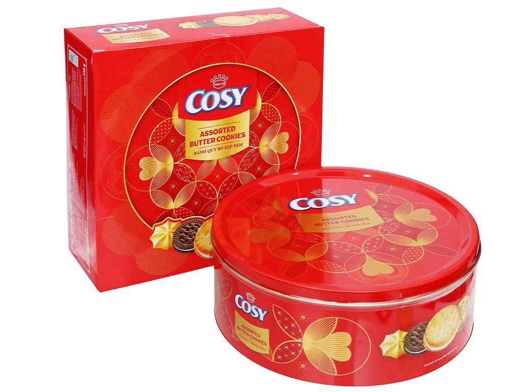 Bánh quy bơ thập cẩm kẹp kem Cosy hộp 546g 2