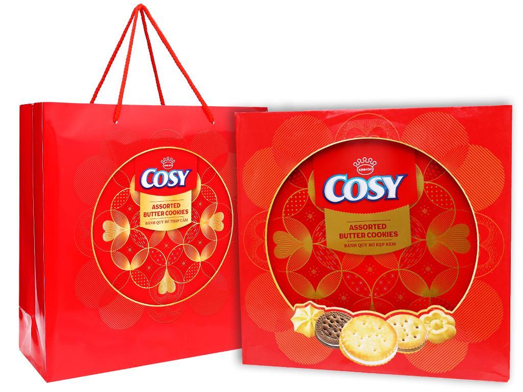 Bánh quy bơ thập cẩm kẹp kem Cosy hộp 546g 1