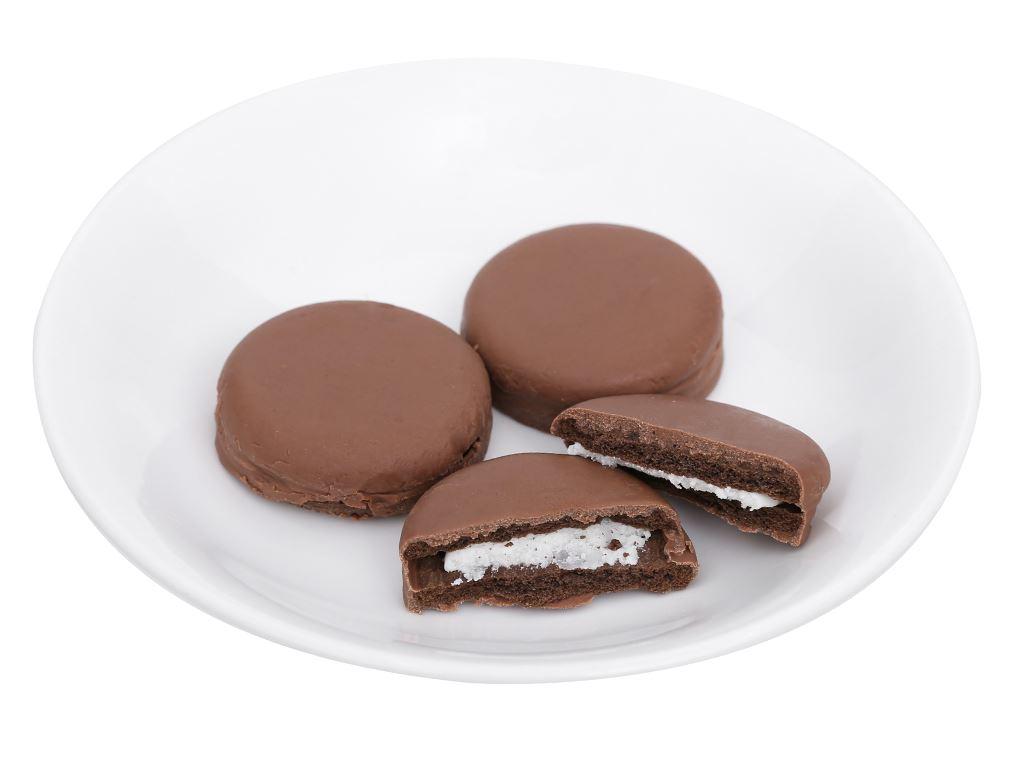 Bánh quy Oreo vỏ socola kẹp kem vị vani phủ socola sữa gói 50g 5