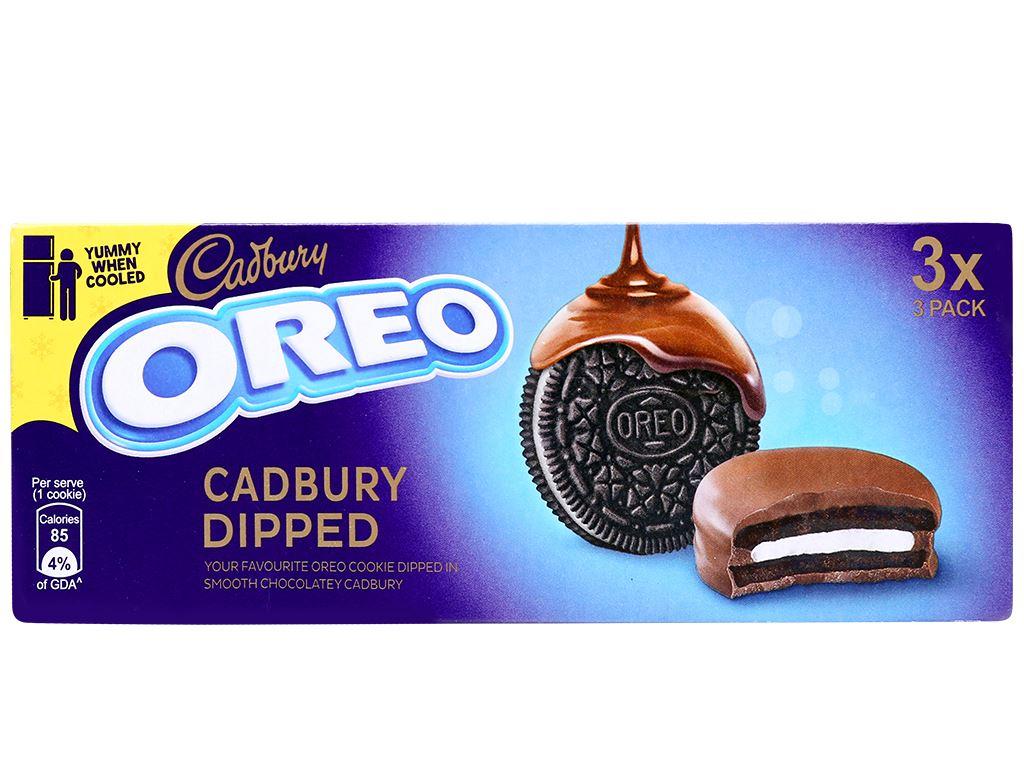 Bánh quy Oreo vỏ socola kẹp kem vị vani phủ socola sữa hộp 150g 1