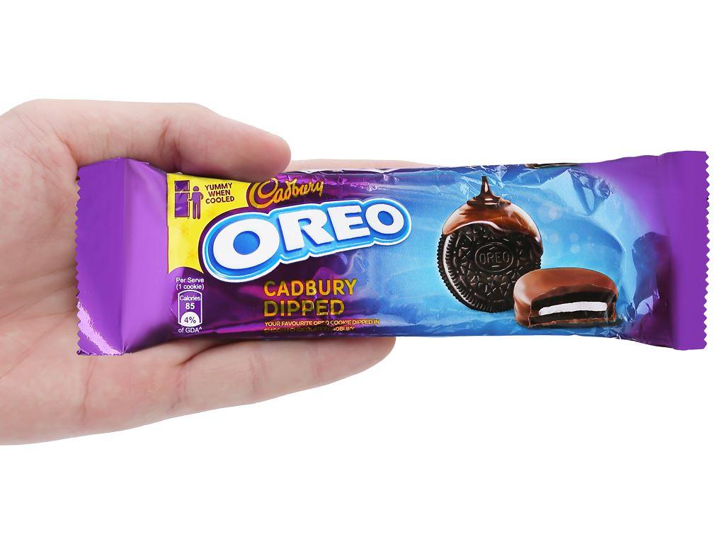 Bánh quy Oreo vỏ socola kẹp kem vị vani phủ socola sữa hộp 150g 4