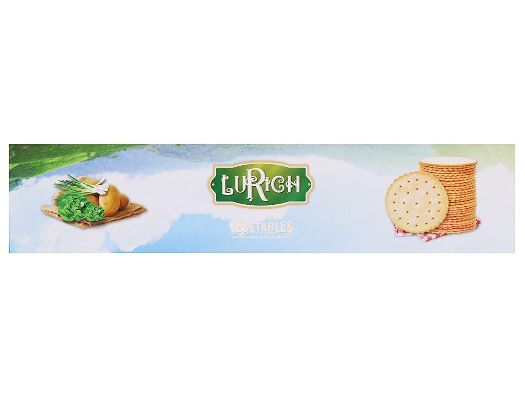 Bánh cracker rau củ Lurich hộp 180g 2