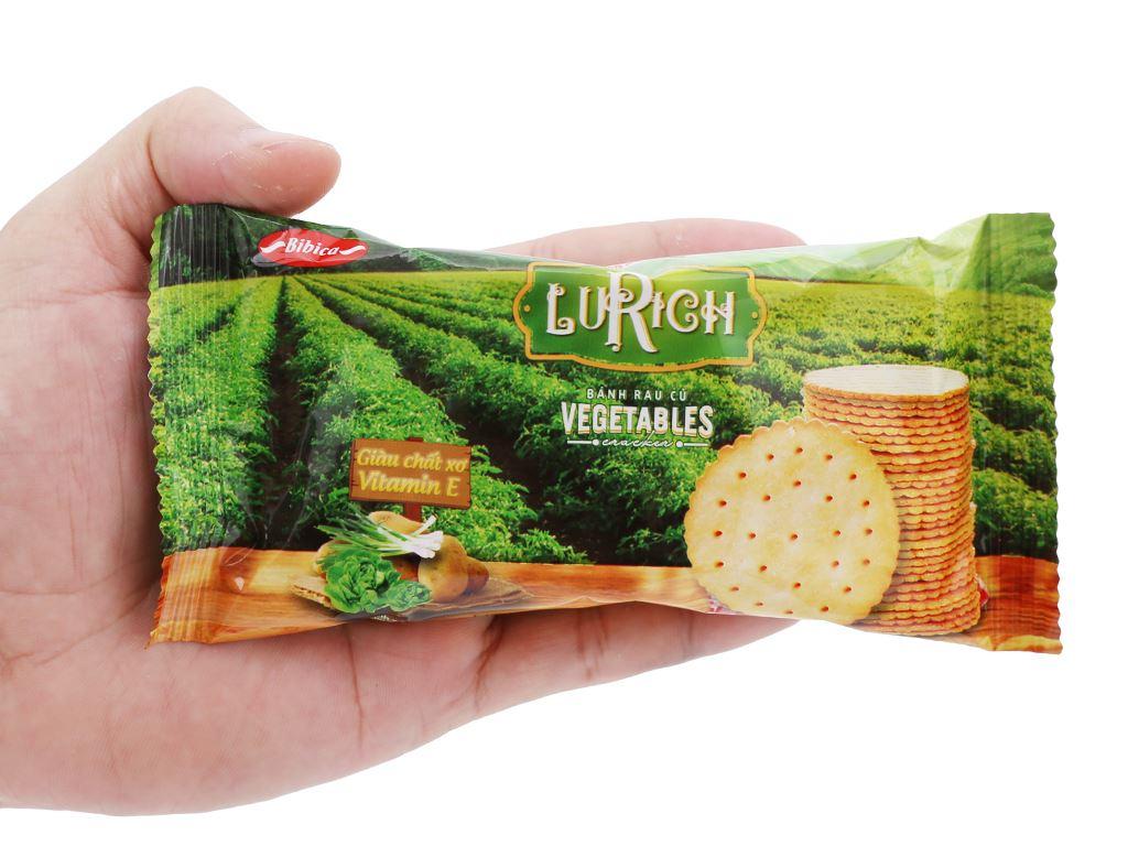 Bánh cracker rau củ Lurich hộp 180g 6