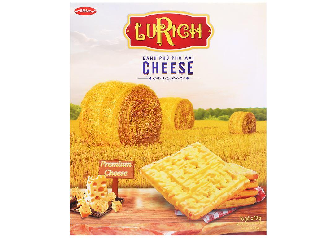 Bánh cracker phủ phô mai Lurich hộp 304g 2