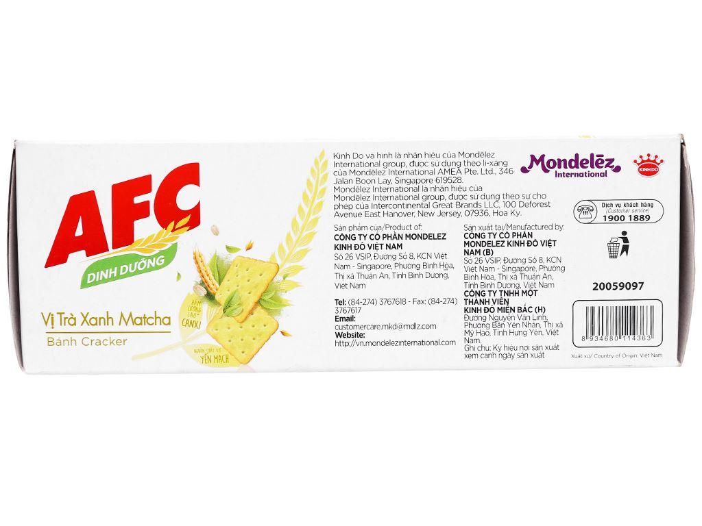 Bánh cracker vị trà xanh matcha AFC Dinh Dưỡng hộp 100g 2