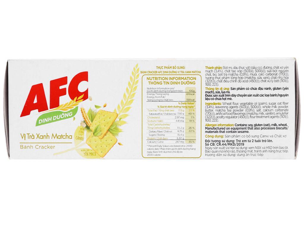 Bánh cracker vị trà xanh matcha AFC Dinh Dưỡng hộp 100g 3