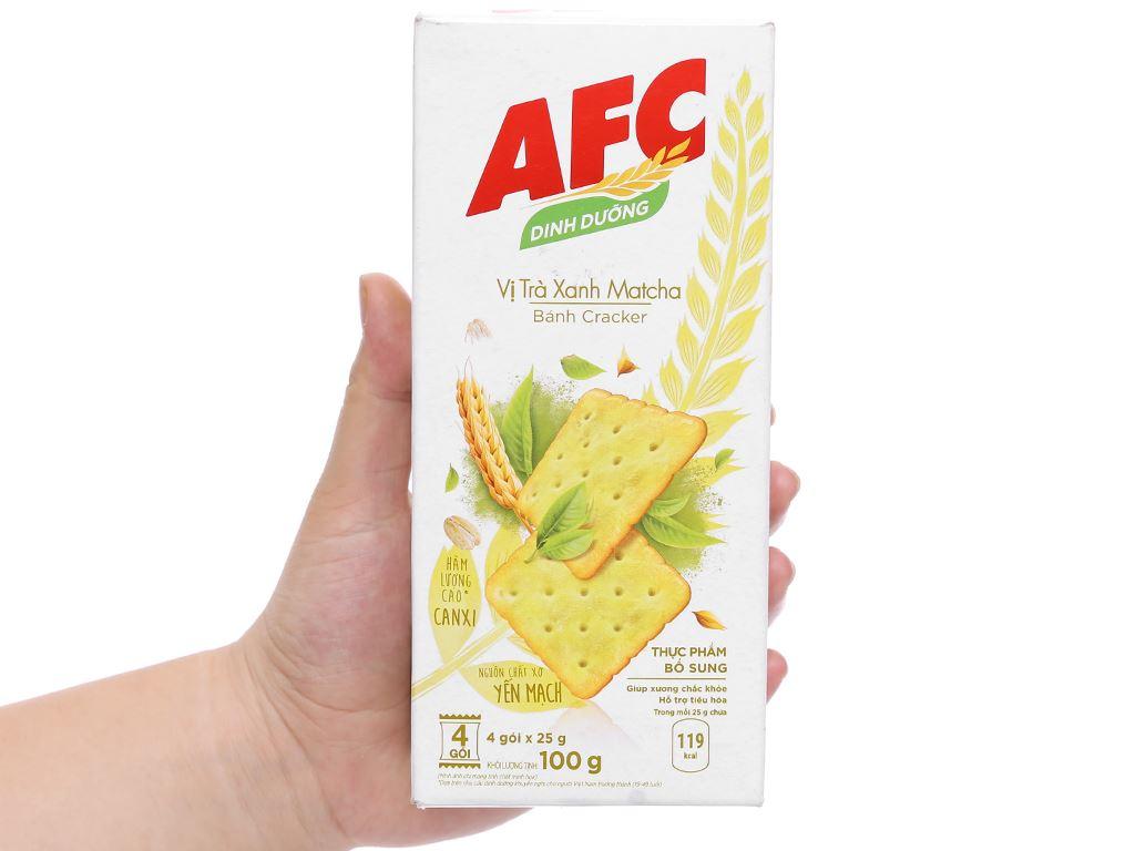Bánh cracker vị trà xanh matcha AFC Dinh Dưỡng hộp 100g 6