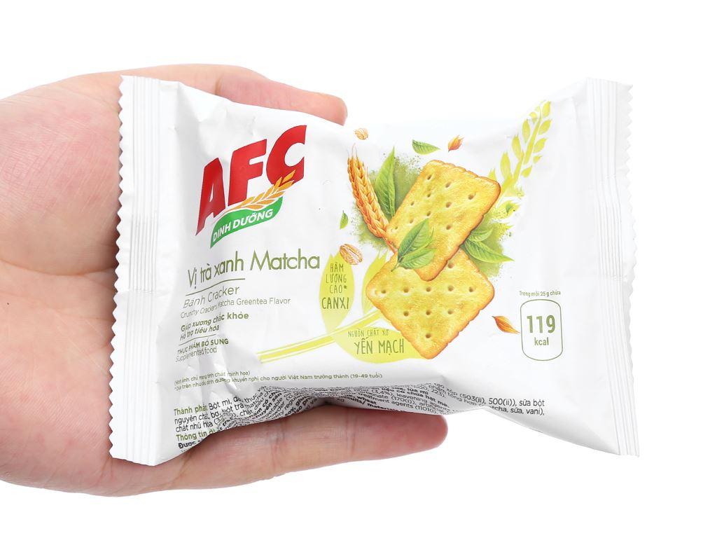 Bánh cracker vị trà xanh matcha AFC Dinh Dưỡng hộp 100g 7