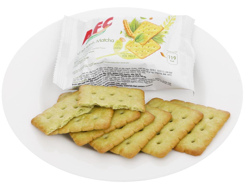 Bánh cracker vị trà xanh matcha AFC Dinh Dưỡng hộp 100g 8