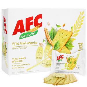 Bánh cracker vị trà xanh matcha AFC Dinh Dưỡng hộp 300g
