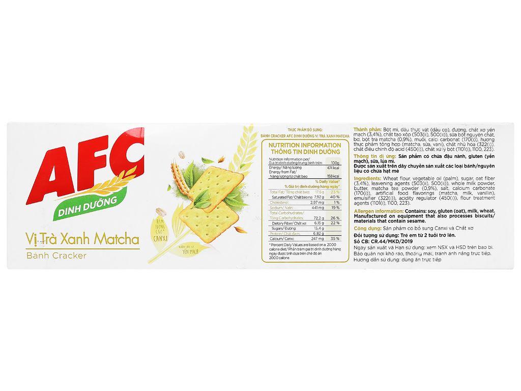 Bánh cracker vị trà xanh matcha AFC Dinh Dưỡng hộp 300g 2
