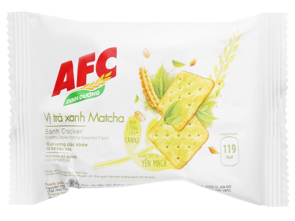 Bánh cracker vị trà xanh matcha AFC Dinh Dưỡng hộp 300g 4