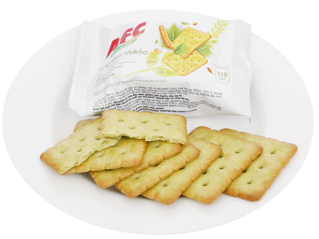 Bánh cracker vị trà xanh matcha AFC Dinh Dưỡng hộp 300g 7