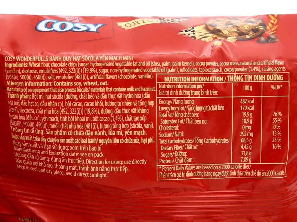 Bánh quy hạt socola yến mạch Cosy Original gói 80g 3