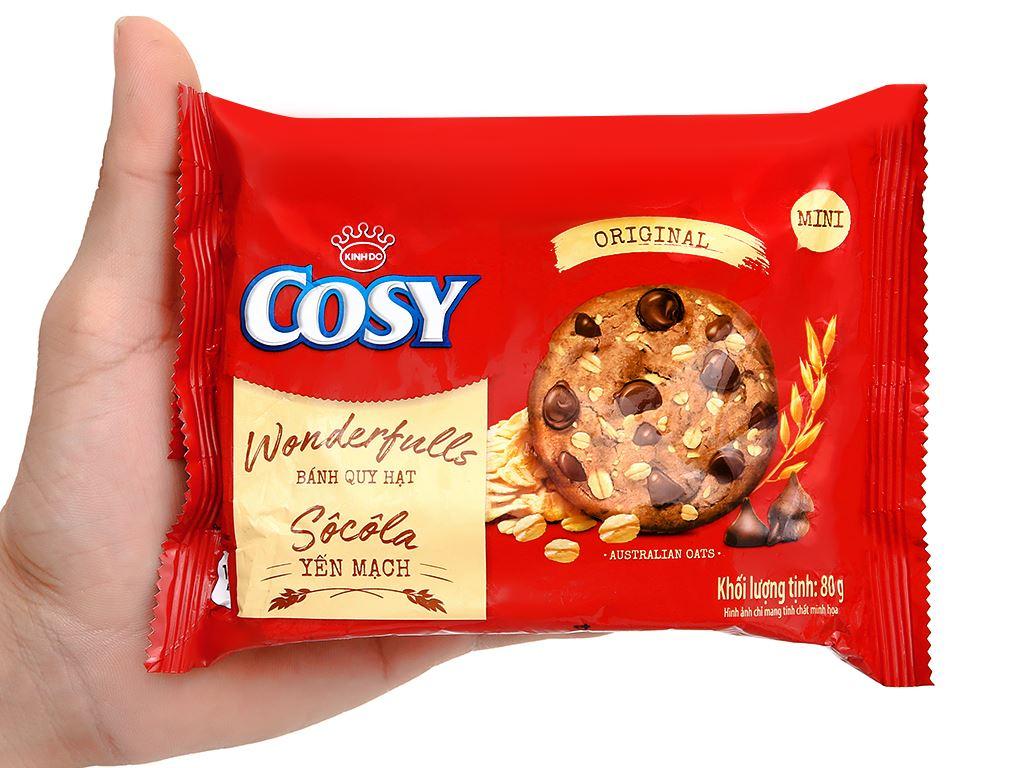Bánh quy hạt socola yến mạch Cosy Original gói 80g 4