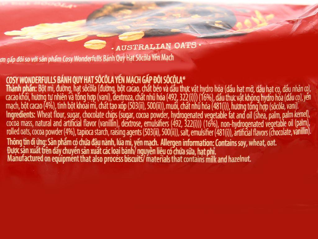 Bánh quy hạt socola yến mạch Cosy Double Choco gói 163.2g 3