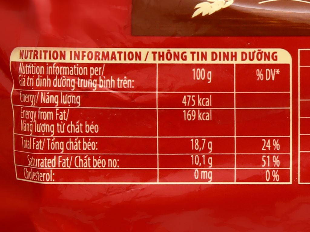 Bánh quy hạt socola yến mạch Cosy Double Choco gói 163.2g 4