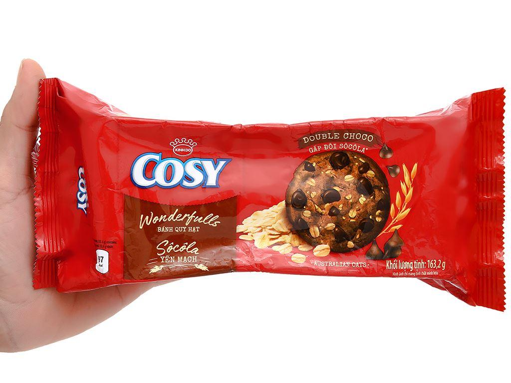Bánh quy hạt socola yến mạch Cosy Double Choco gói 163.2g 6