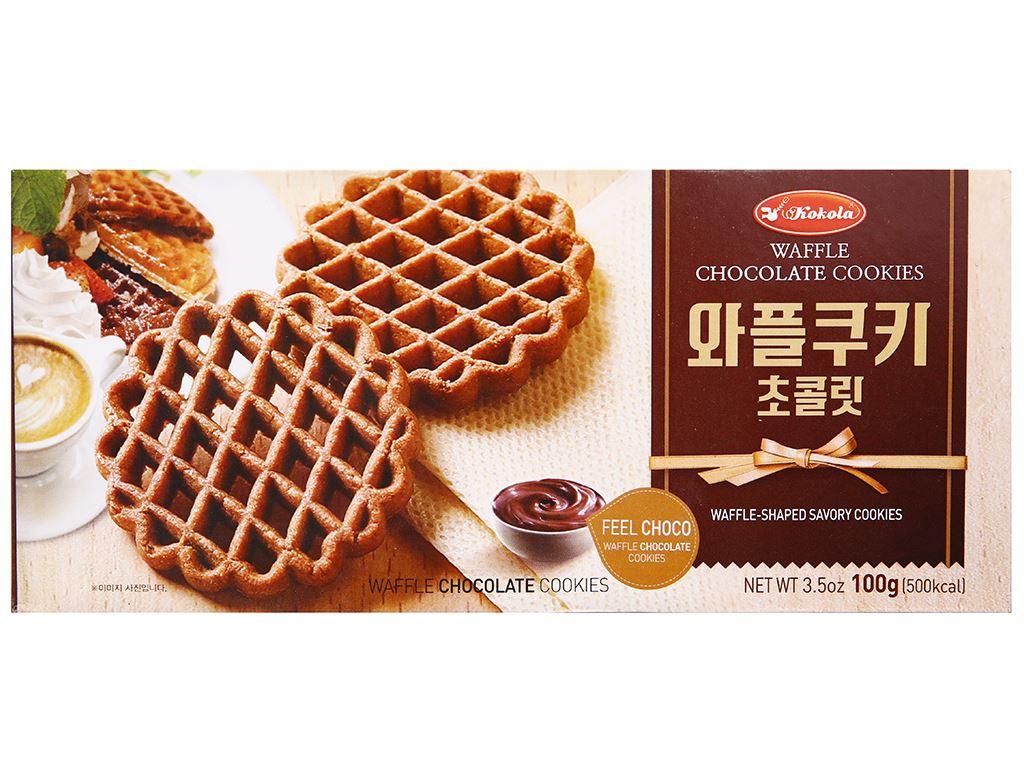 Bánh quy socola Kokola Waffle Cookies hộp 100g 1