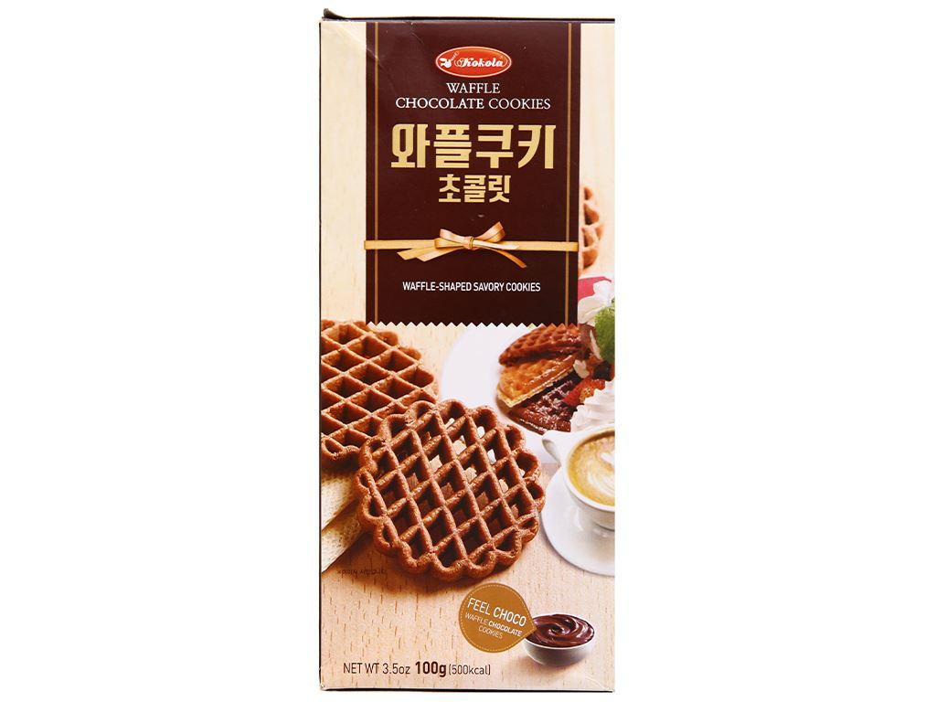 Bánh quy socola Kokola Waffle Cookies hộp 100g 2