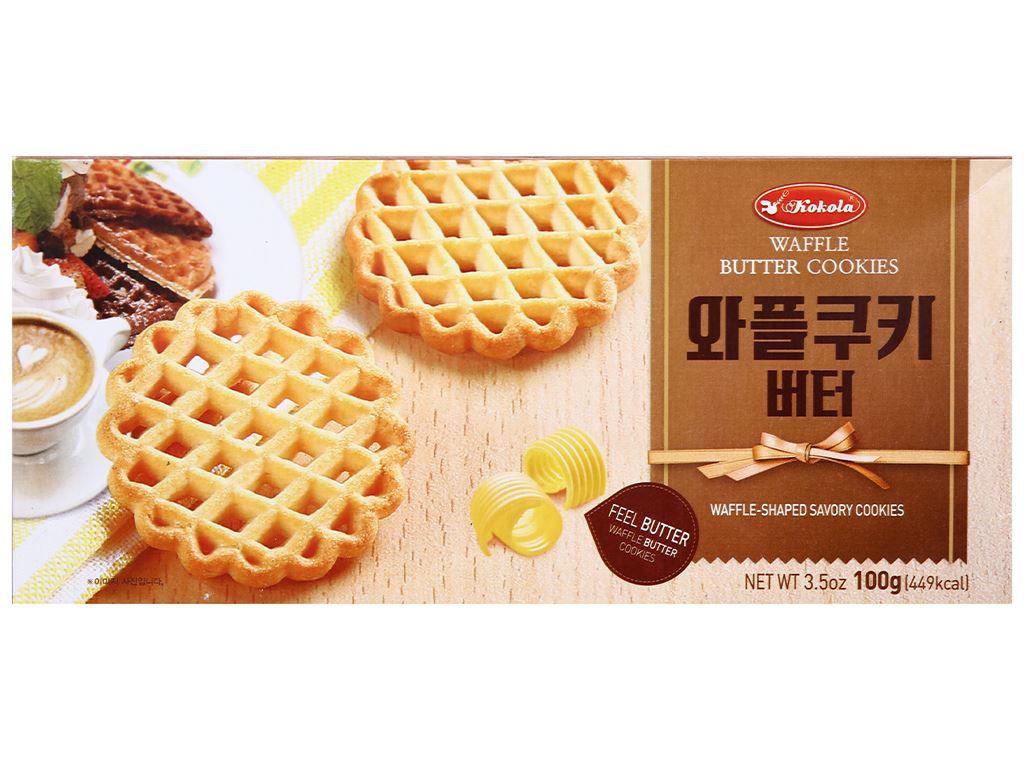 Bánh quy bơ Kokola Waffle Cookies hộp 100g 1