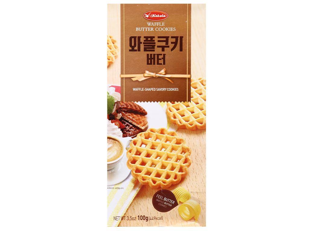 Bánh quy bơ Kokola Waffle Cookies hộp 100g 2
