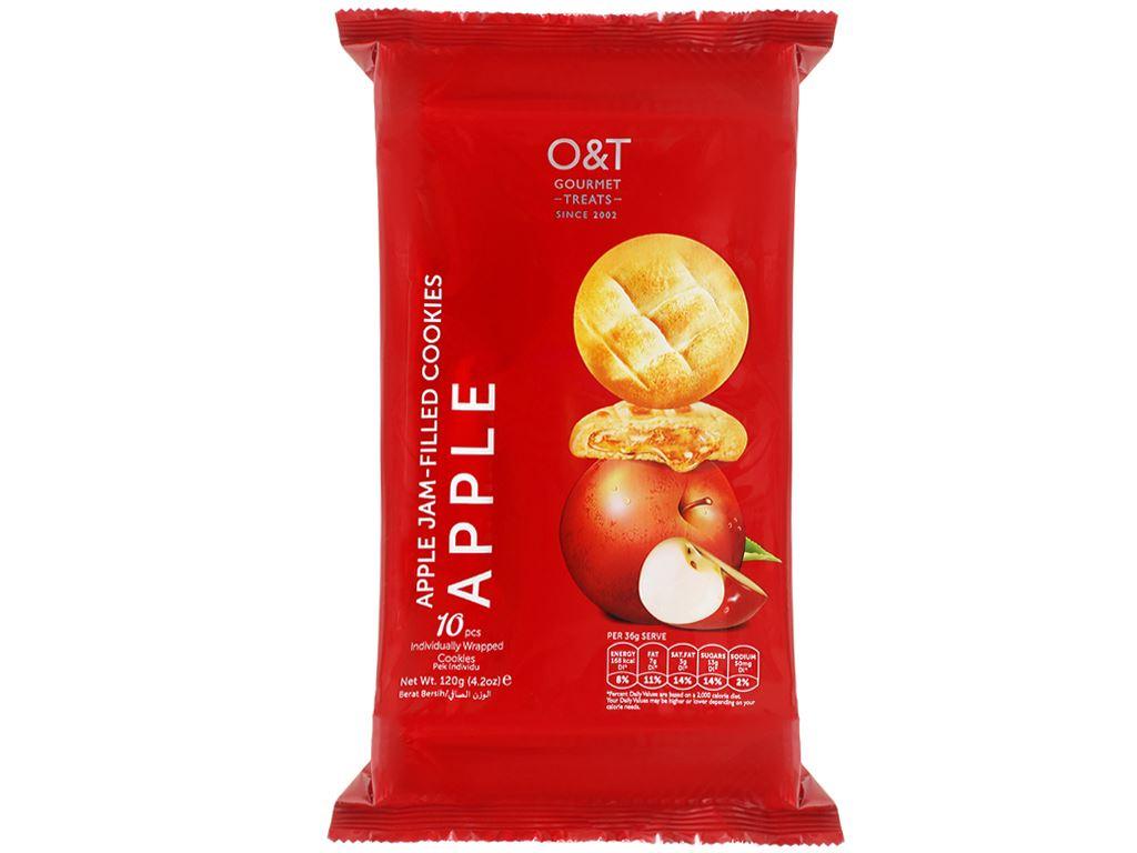 Bánh quy nhân mứt táo O&T gói 120g 1