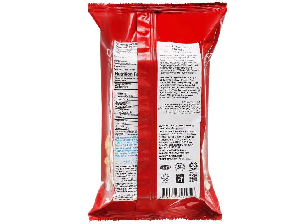 Bánh quy nhân mứt táo O&T gói 120g 2