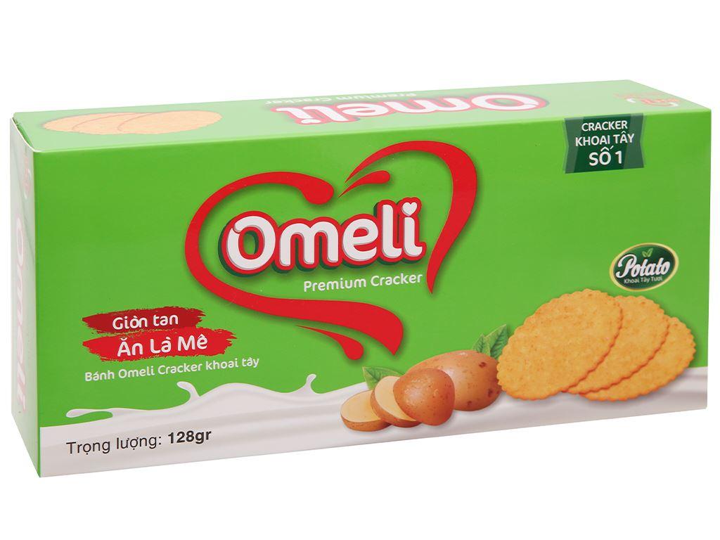 Bánh cracker khoai tây Omeli hộp 128g 1