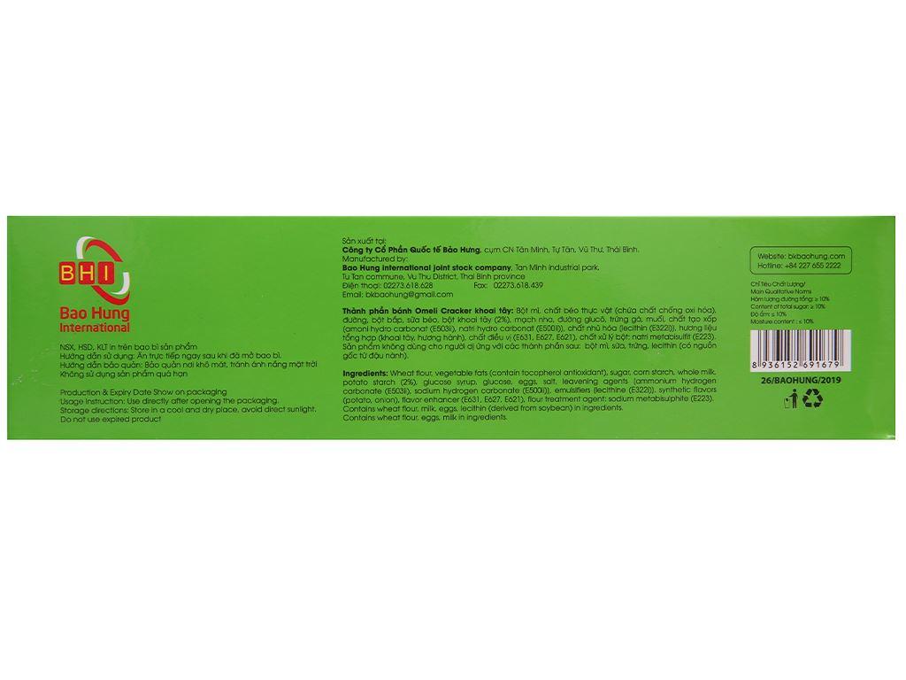 Bánh cracker khoai tây Omeli hộp 128g 2
