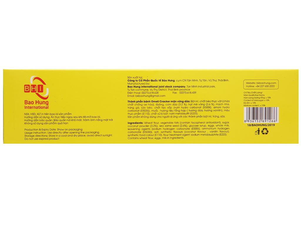 Bánh cracker mặn vừng dừa Omeli hộp 128g 2