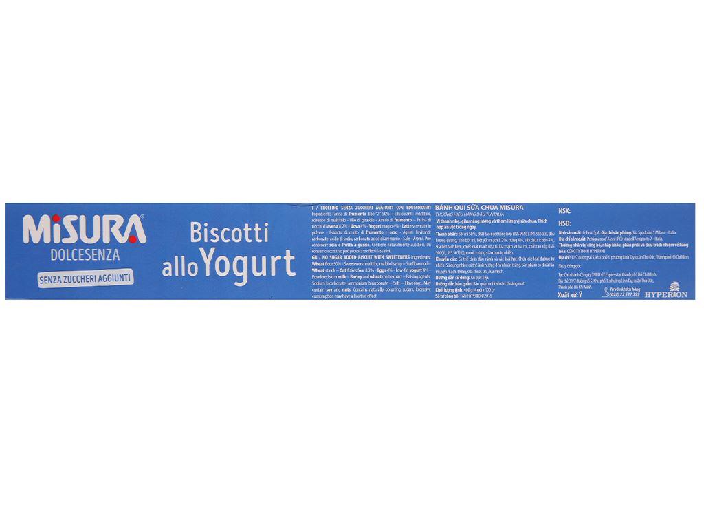 Bánh quy sữa chua Misura hộp 400g 3