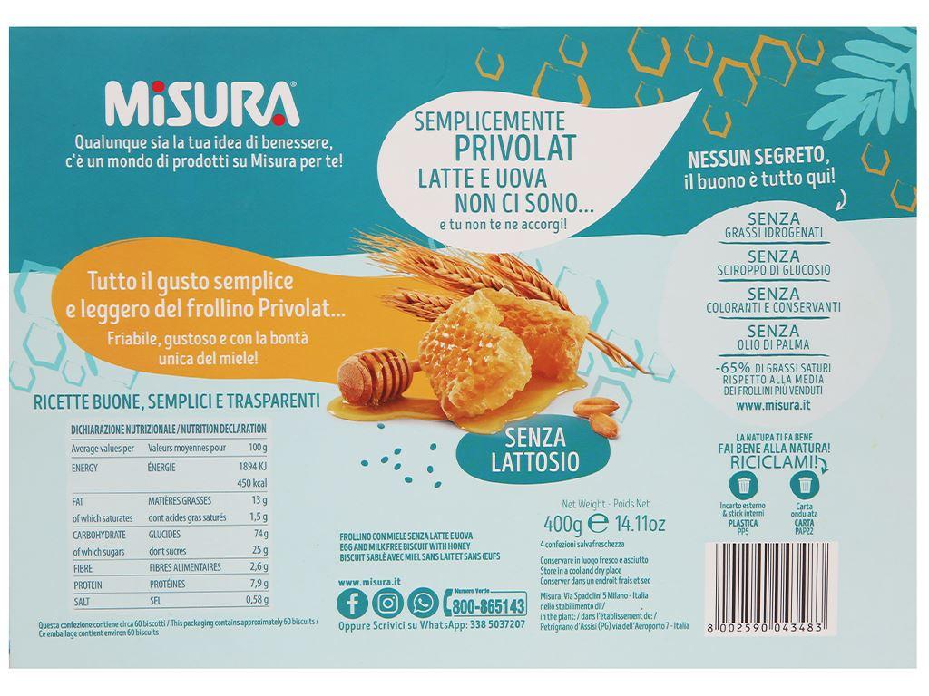 Bánh quy mật ong Misura hộp 400g 2