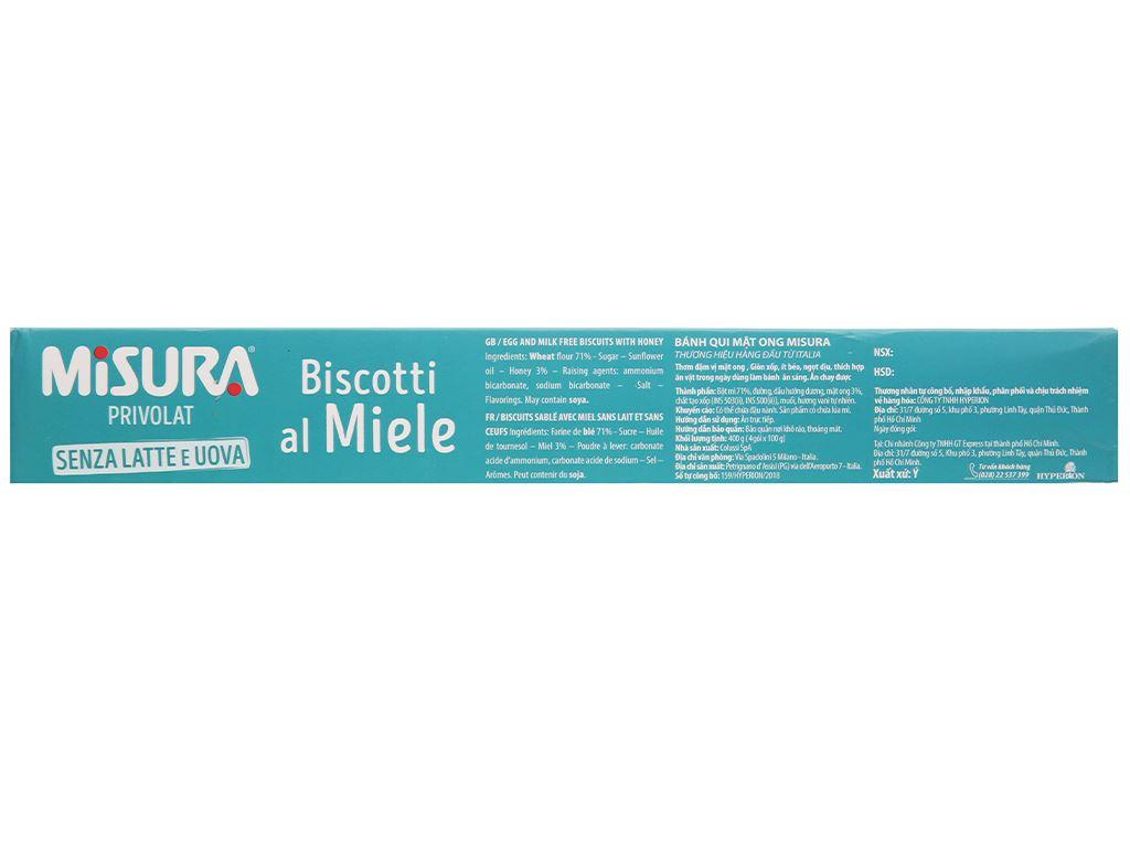 Bánh quy mật ong Misura hộp 400g 3