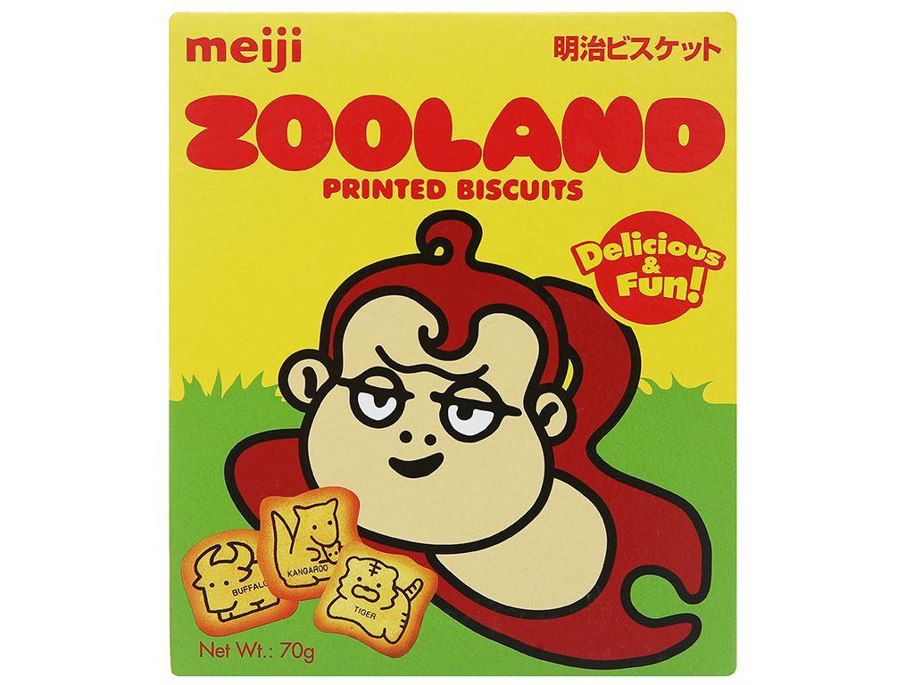 Bánh quy Meiji Zooland hộp 70g 1