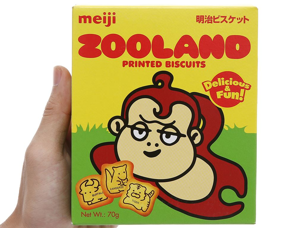 Bánh quy Meiji Zooland hộp 70g 6
