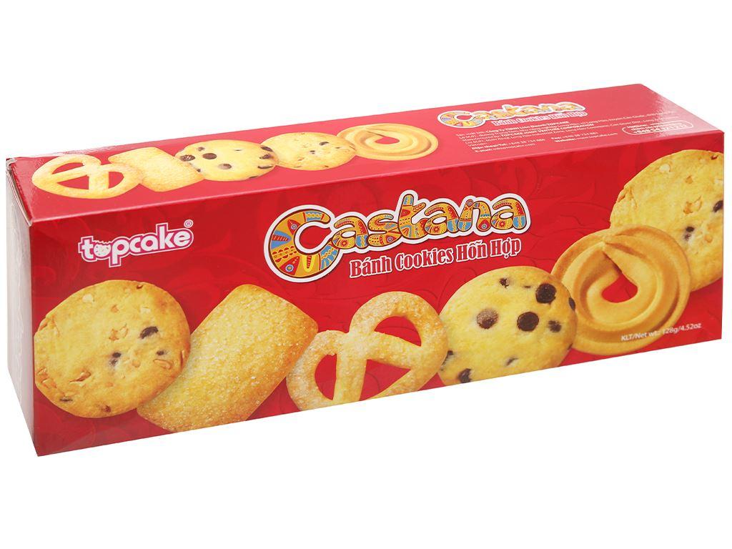 Bánh cookies hỗn hợp Castana hộp 128g 1
